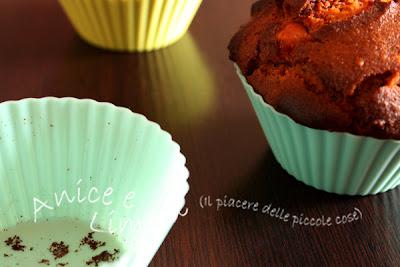 muffin integrali di kamut noci e cannella