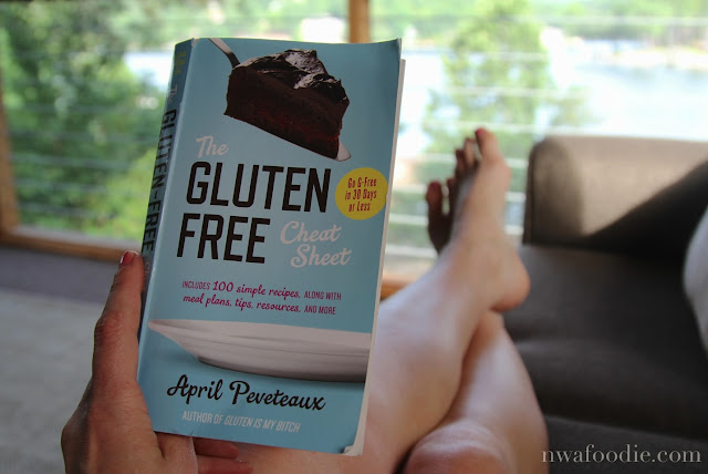 The Gluten Free Cheat Sheet book by April Peveteaux (c)nwafoodie