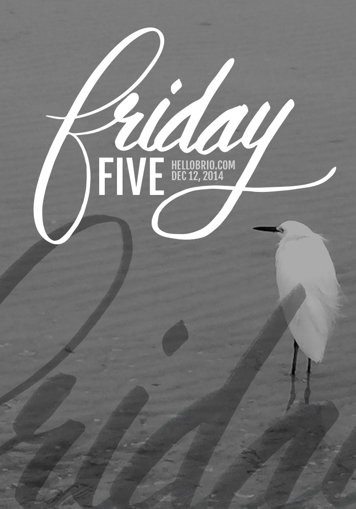 Friday Five: Hand Lettering, Illustration, and Questions on HelloBrio.com