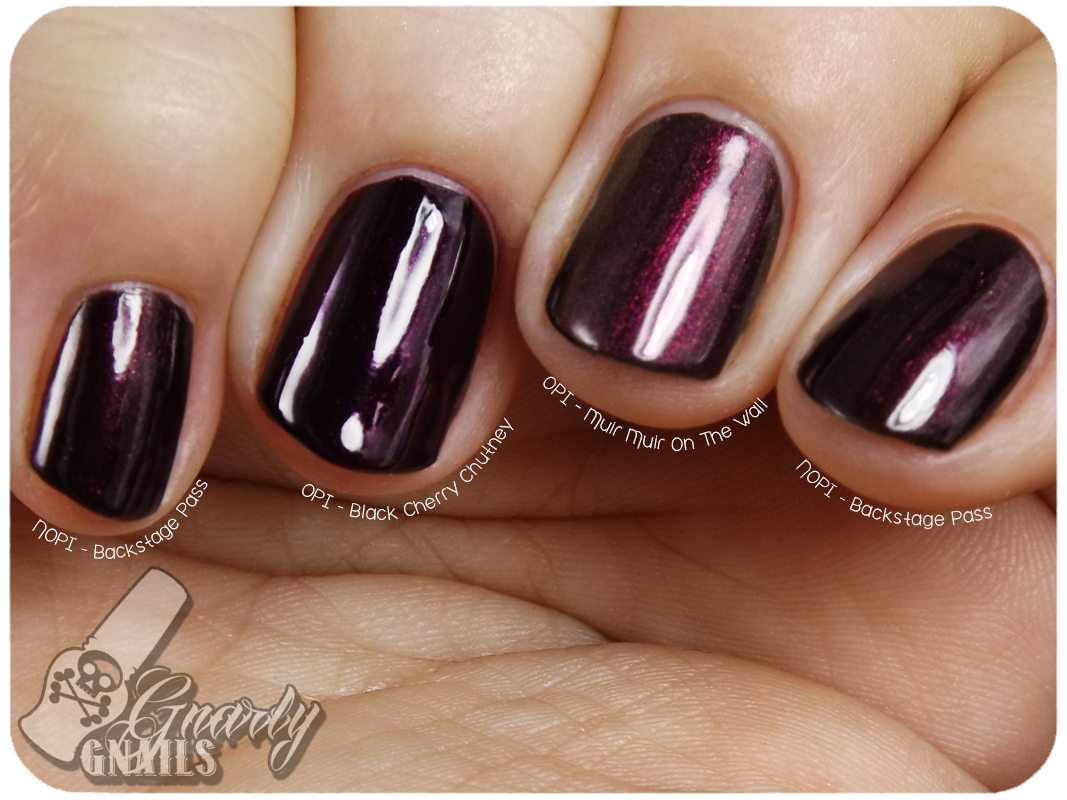 Put Your Dupes Up - The Burgundy Shimmers Edition - Gnarly Gnails