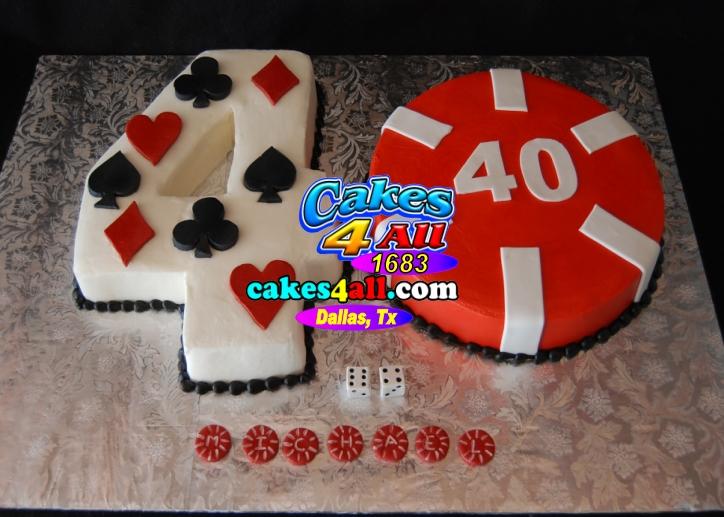 40th Birthday Gambling Cake Dallas Tx Cakeshop