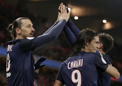 Cavani, Ibrahimovic, PSG