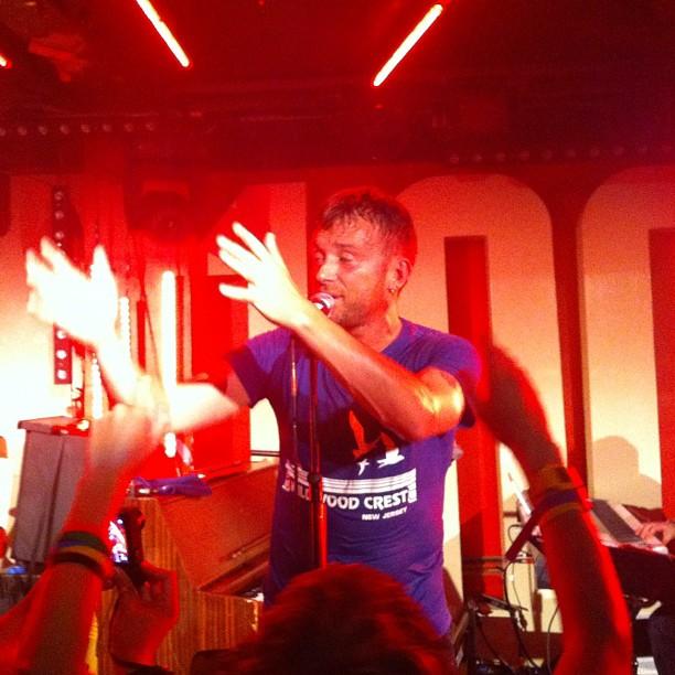 blur100club, blur converse, blur live 2012, damon albarn singing, damon albarn 100 club, blur olympics, blurwarmup