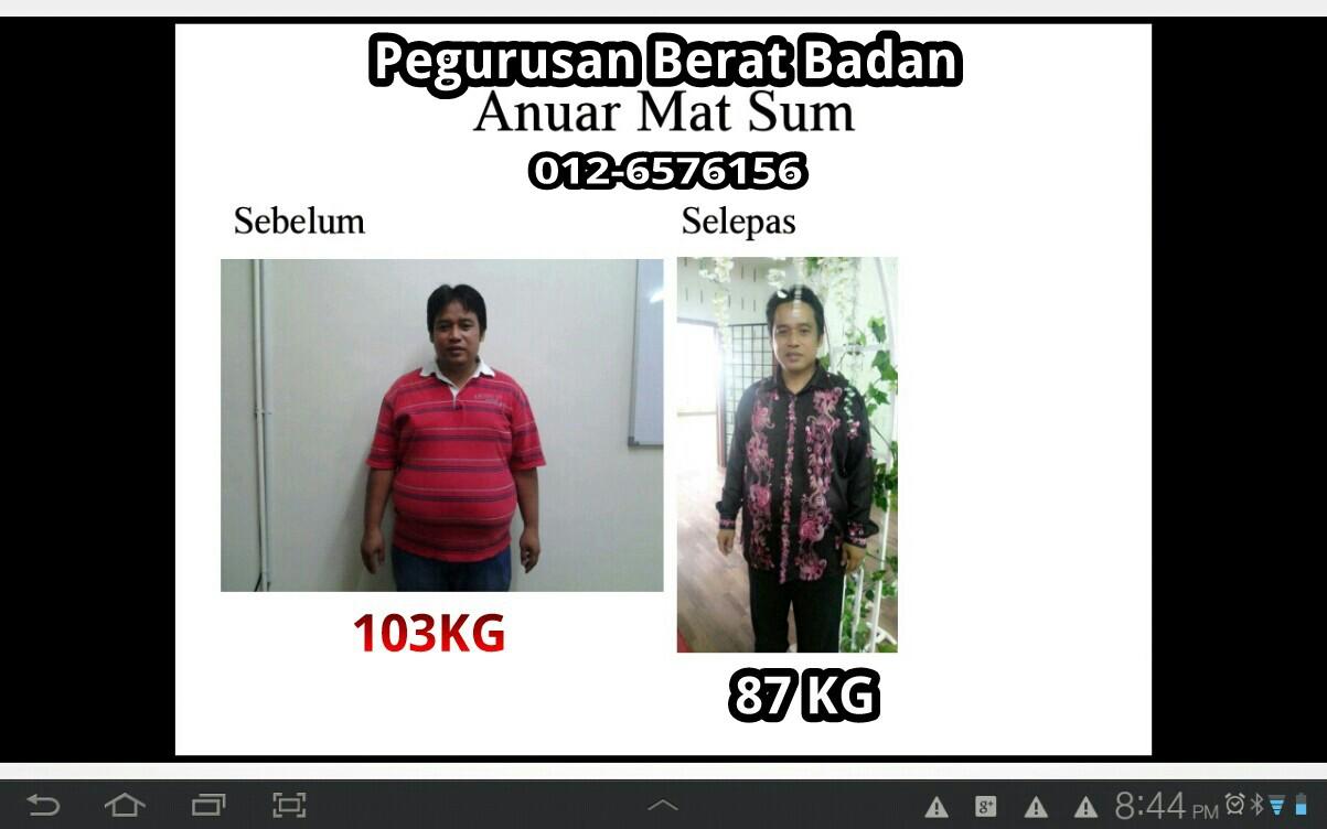 Turunkan berat badan 85 kg