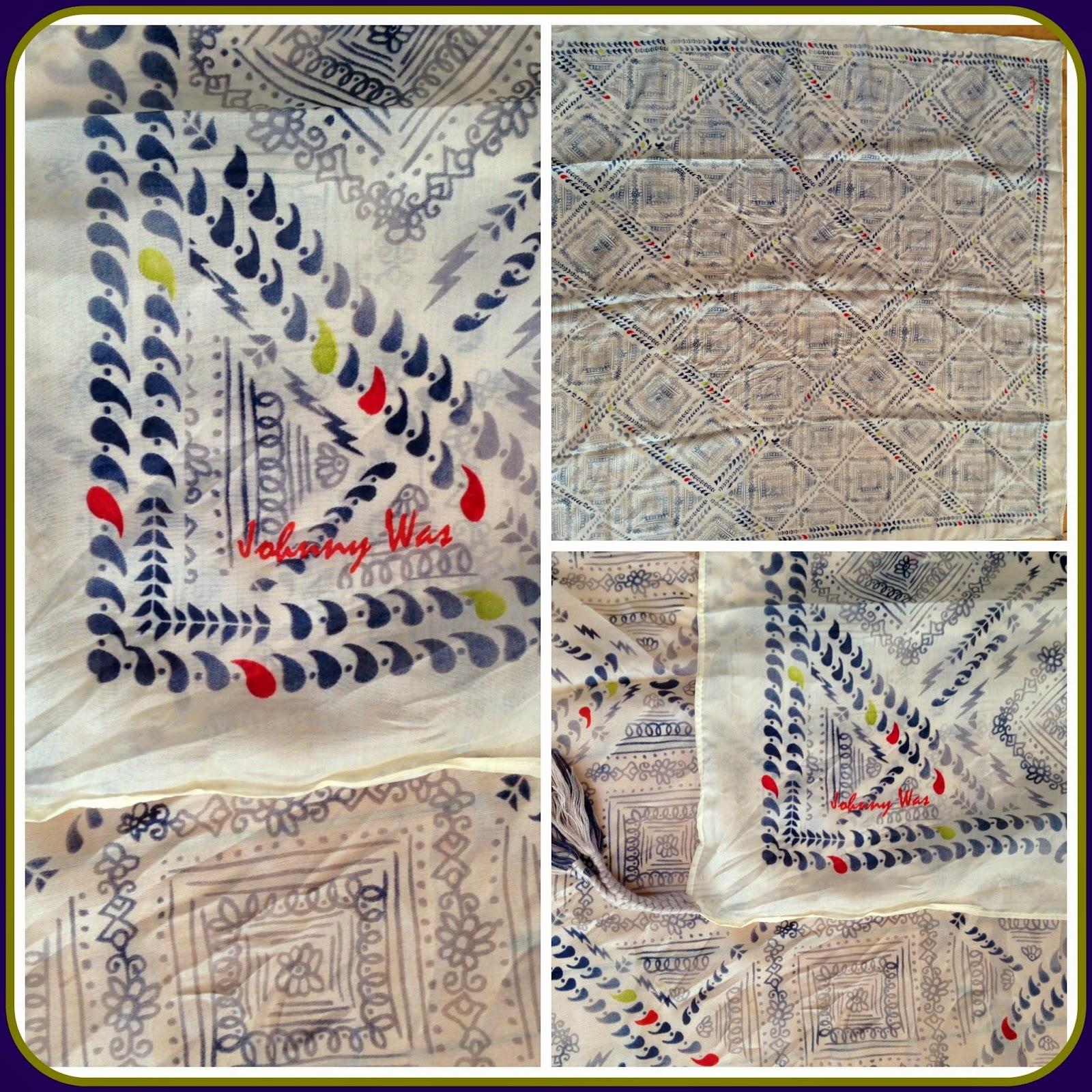 Mini Checker Silk Scarf by Johnny Was ($88)
