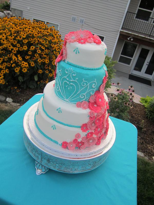 Cake Pink And Fuchsia Icing