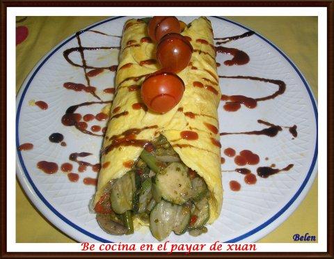 Be cocina en el payar de xuan tortilla rellena de verduras for Verduras francesas