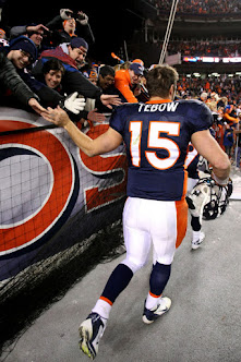 Tebow Celebrates Steeler Win