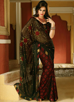 Beautiful Latest Saree Designs 2012