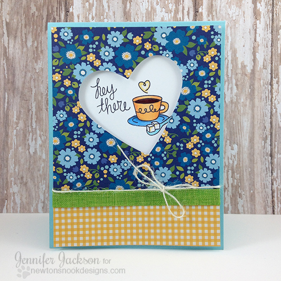 Coffee Lovers Blog Hop | Coffee card by Jennifer Jackson using Love a la carte Stamp set by Newton's Nook Designs