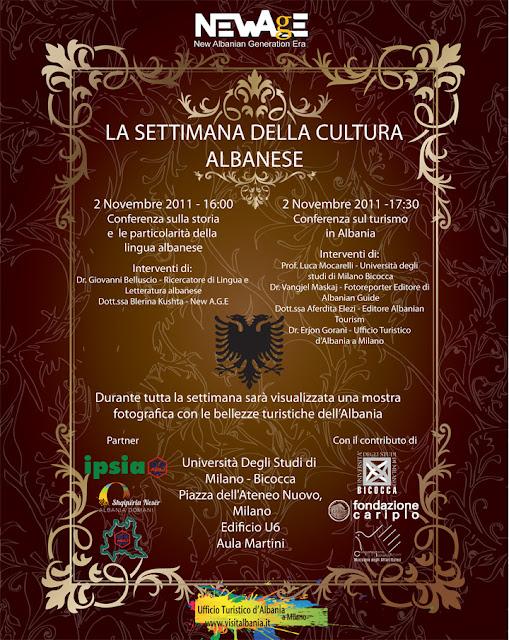 La settimana della cultura albanese - Milano 2 novembre 2011