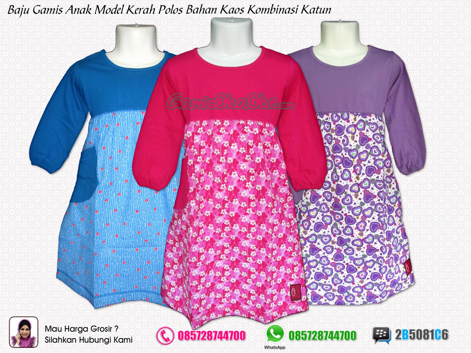 Grosir gamis anak murah produksi konveksi oka oke baju Baju gamis anak dan dewasa