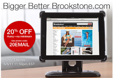 Click to view this July 29, 2011 Brookstone email full-sized