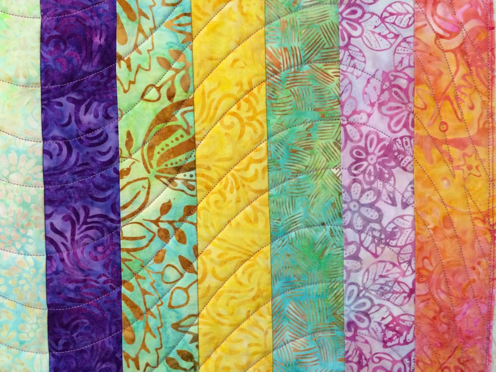 Chris Olsen's Batik Strips Quilt