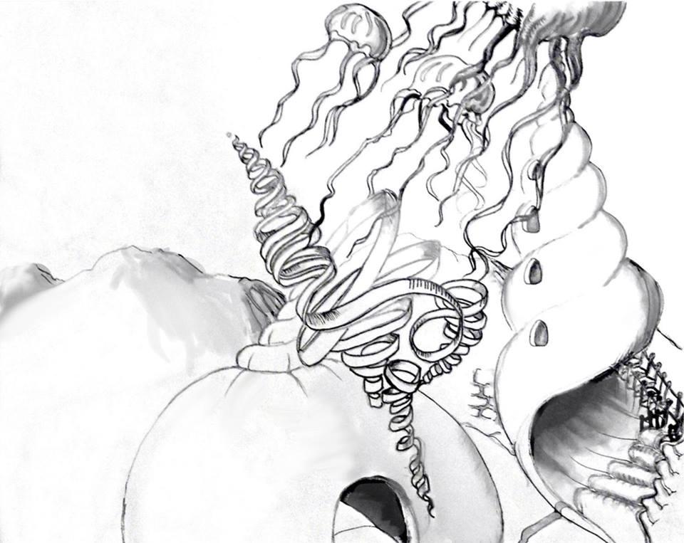 Line Art Underwater : The helpful art teacher under water world from