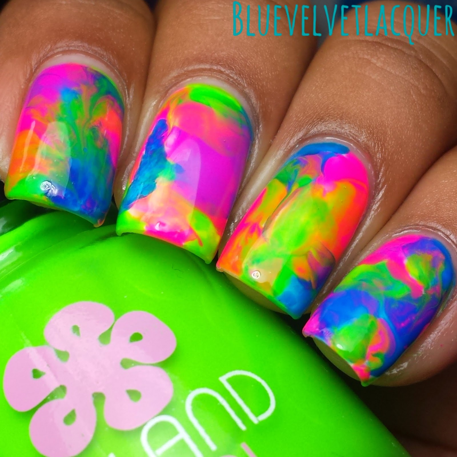 Blue Velvet Lacquer: Twinsie Tuesday: Summer Lovin\' - Neon Dry ...