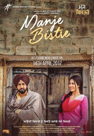 Poster Of Pollywood Movie Manje Bistre 2017 300MB HDRip 480P Full Punjabi Movie