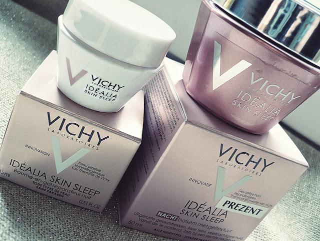 Co skóra robi nocą? Krem Vichy Idéalia Skin Sleep.