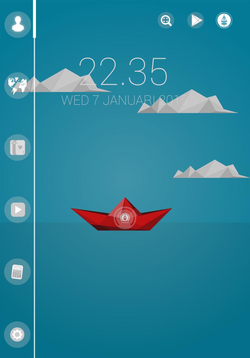 Tema grOS ( Perahu Kertas ) untuk Smart Launcher Android