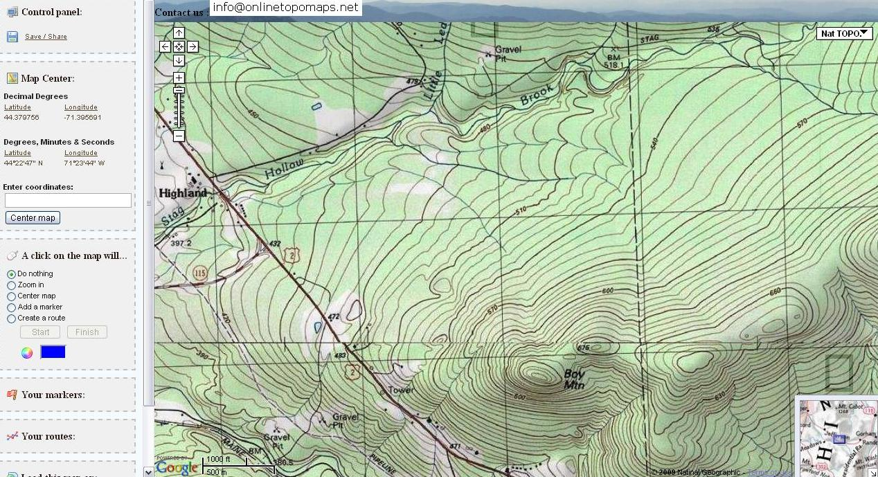 Free Topographic Maps and How To Read a Topographic Map