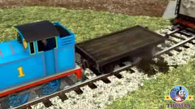 Thomas and friends Diesel reversed with a smash and a crash and he rolled over his new winter tree