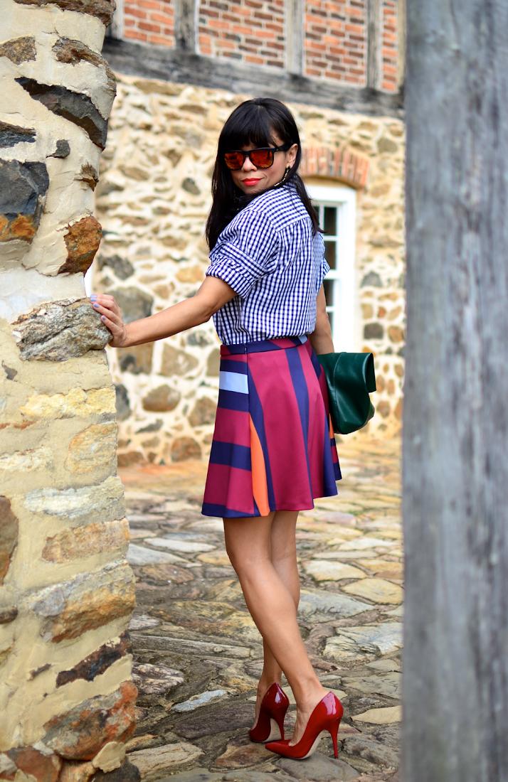 Circle Skirt Street Style Look