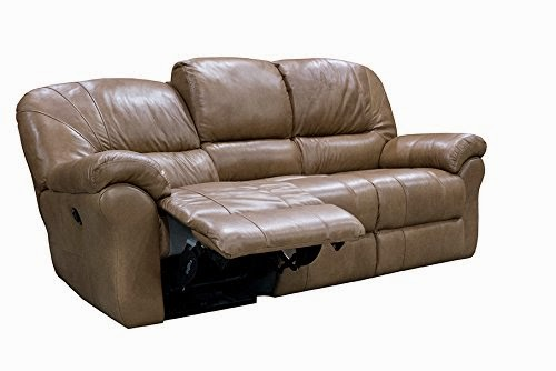 Attrayant Italian Leather Power Reclining Sofa