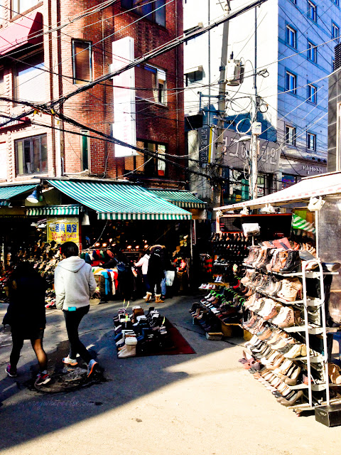 Shopping around Ewha Womans University