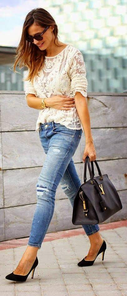Talla adecuada para los Jeans de Mujeres