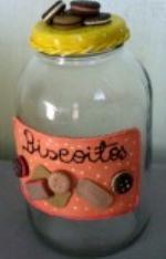Decoração em Potes de Vidro com Biscuit