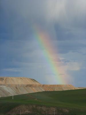 Небо Монголии. Радуга.