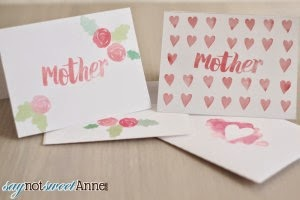 mother's day cards with matching envelopes