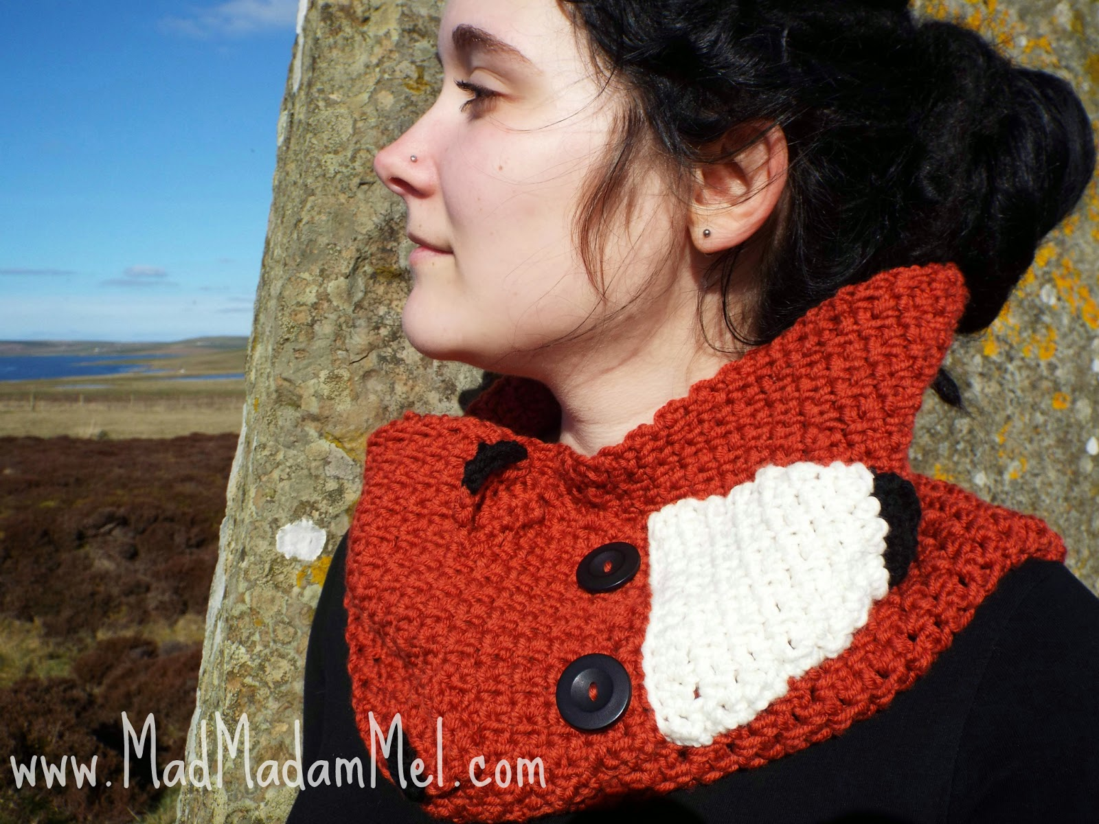fox cowl scarf crochet pattern