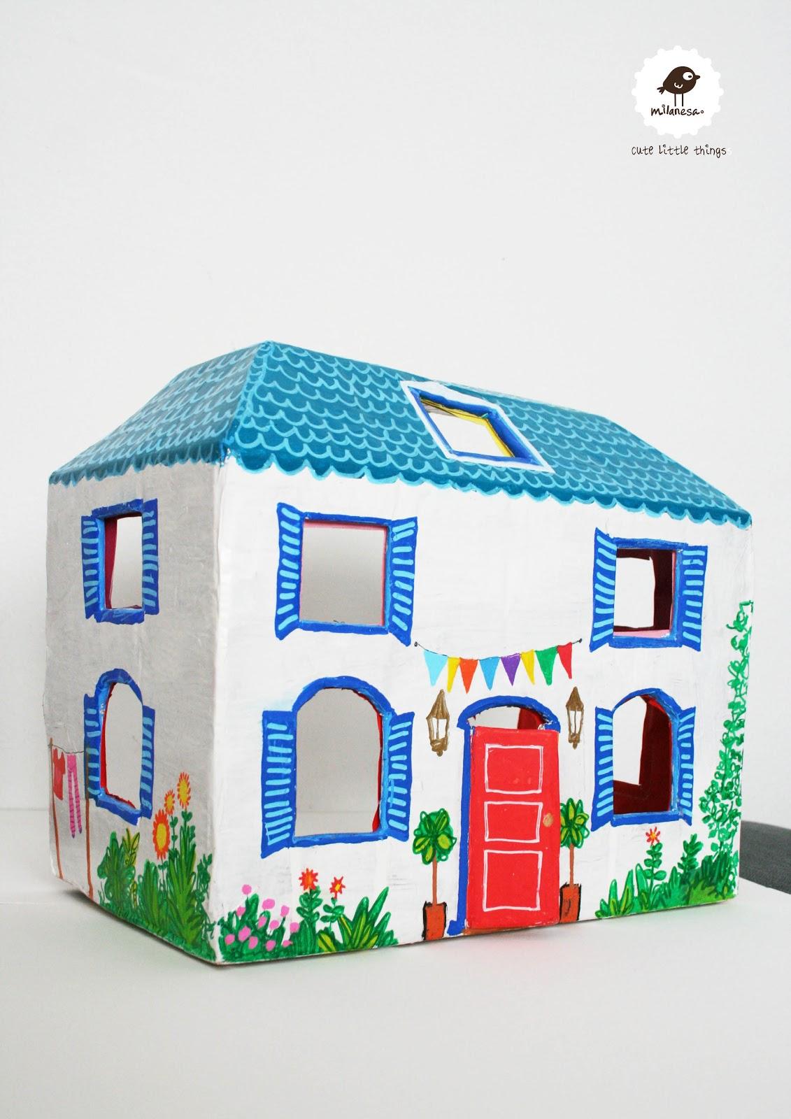 Milanesa una casita de cart n tutorial - Como hacer una casa de carton pequena ...
