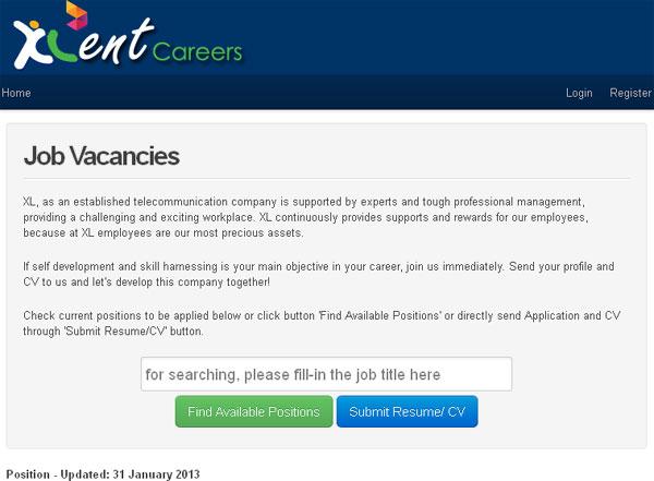 Info Lowongan Kerja XL Axiata di XLent Careers