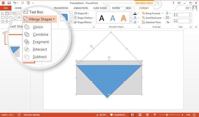 PowerPoint vẽ đồ thị vector