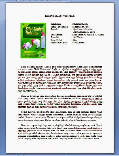 Blog Contoh Resensi Book Fiksi