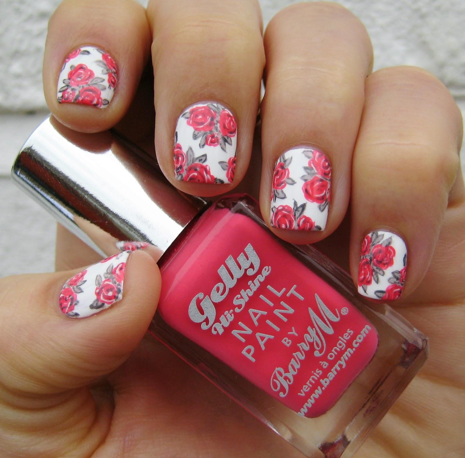 spring blooms nail art