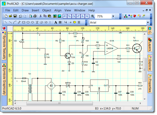 Drawing Software ProfiCAD For Free Applied Electronics Engineering