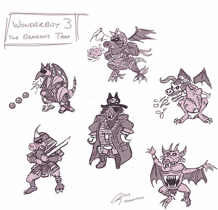 Wonderboy 3 - Boss dragons