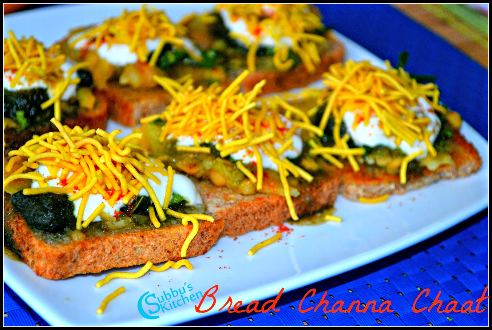 Bread Channa Chaat