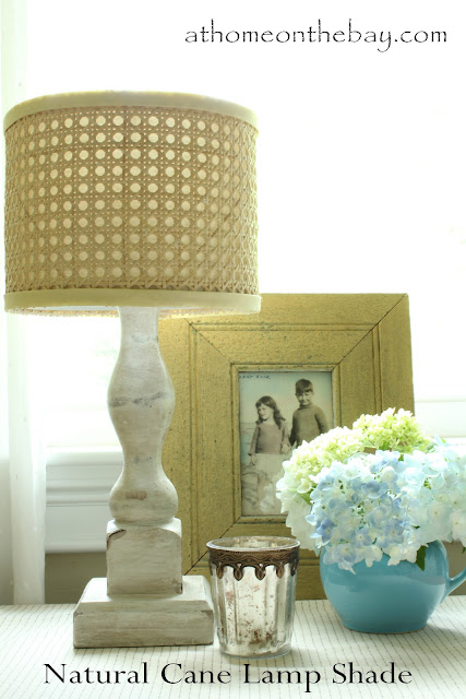 DIY Horchow Inspired Natural Cane Lamp Shade