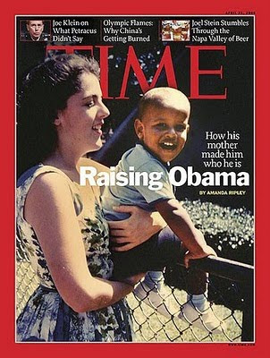 obama de niño con su mamá