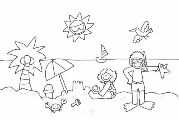 Blog MegaDiverso: Verano para colorear dibujos