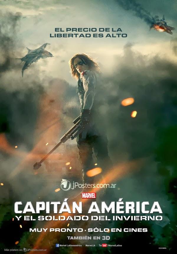 El soldado de invierno en el Poster Capitan America: El Soldado de Invierno
