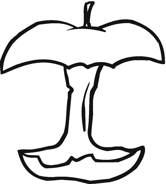 eat apple coloring pages