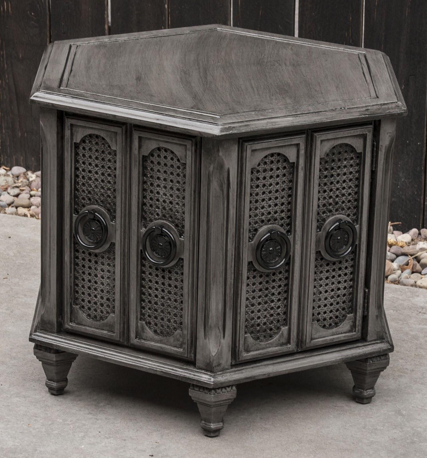 modernly shabby chic furniture dark gray and black side. Black Bedroom Furniture Sets. Home Design Ideas