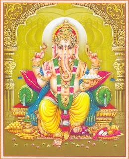 Picture of Lord Vinayaka or Vinayagar, name of Hindu God Ganesha