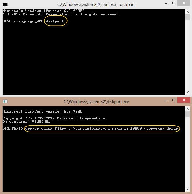 how to create windows 7 virtual disk file