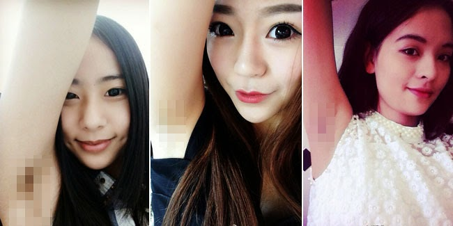 Tren Aneh, Banyak Perempuan Cina Pamer Bulu Ketiak di Sosial Media